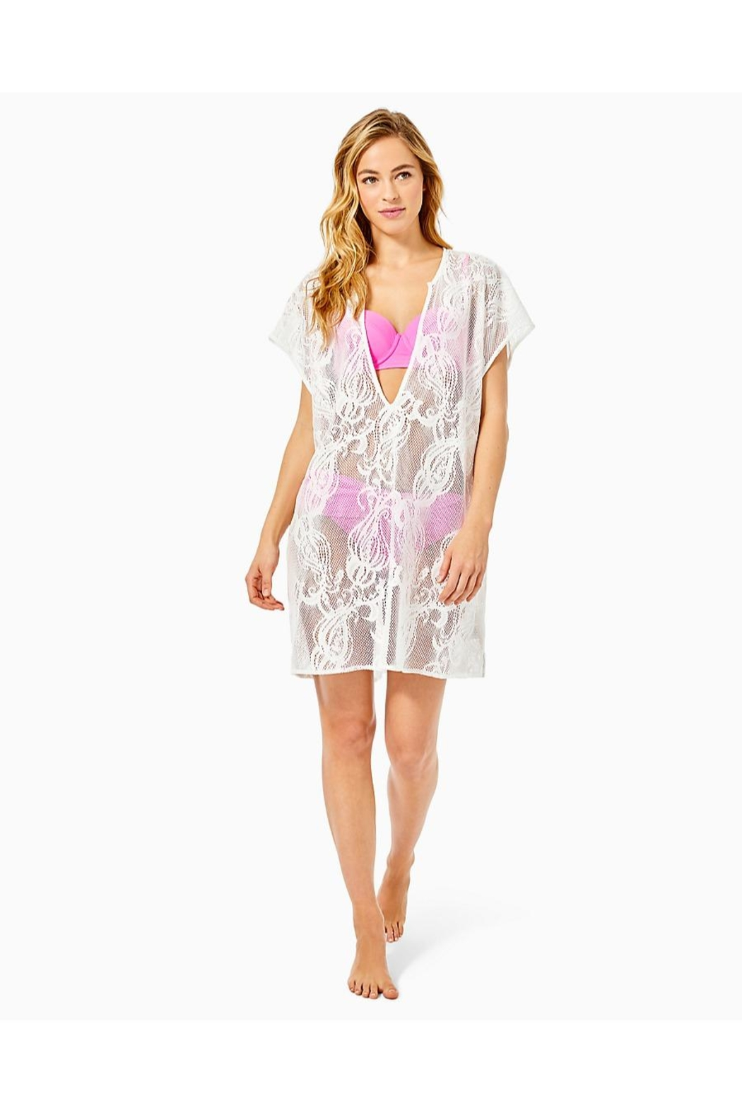 Lilly Pulitzer Aideen Crochet Cover-Up - Side Cropped Image