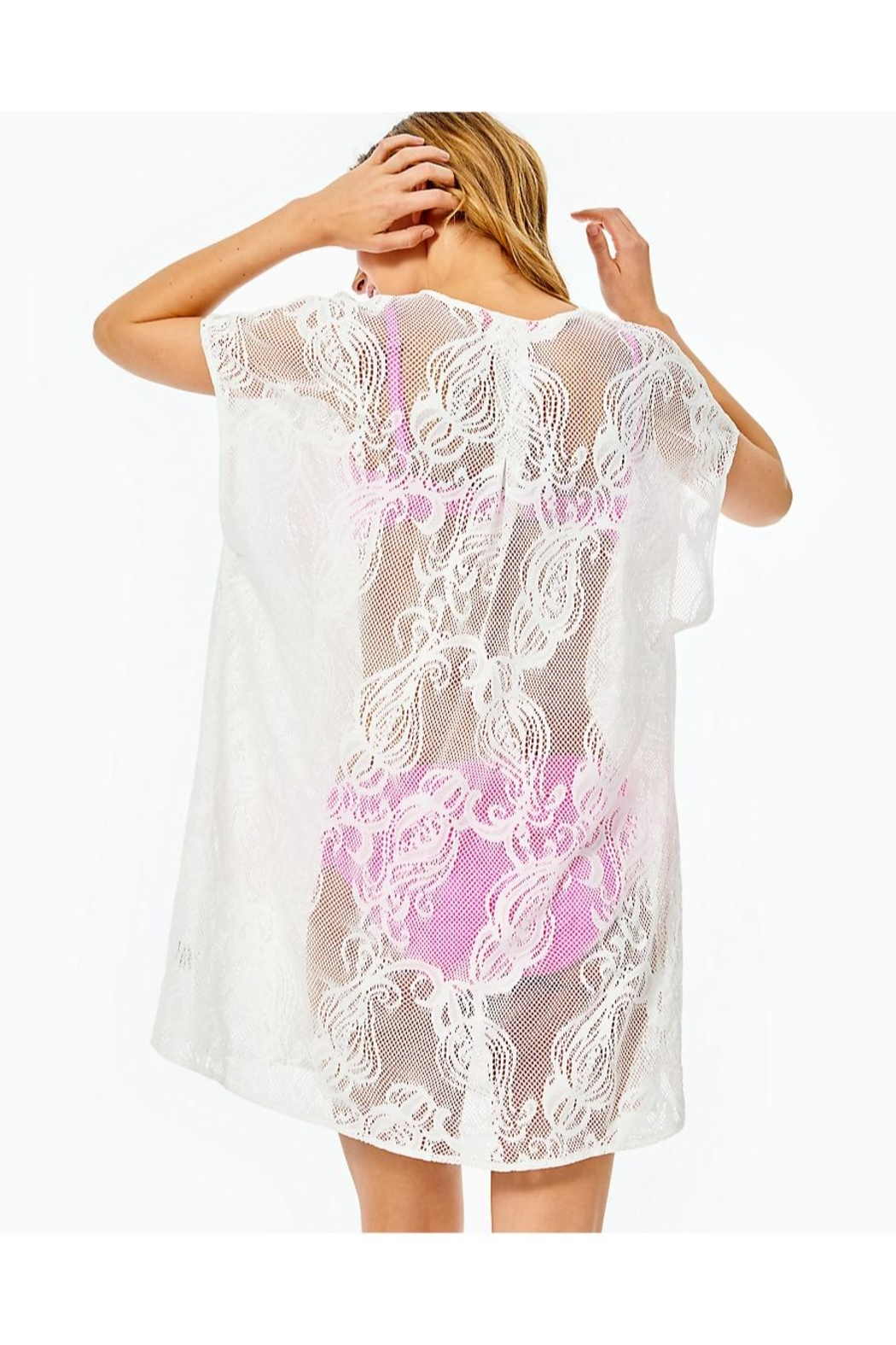 Lilly Pulitzer Aideen Crochet Cover-Up - Front Full Image