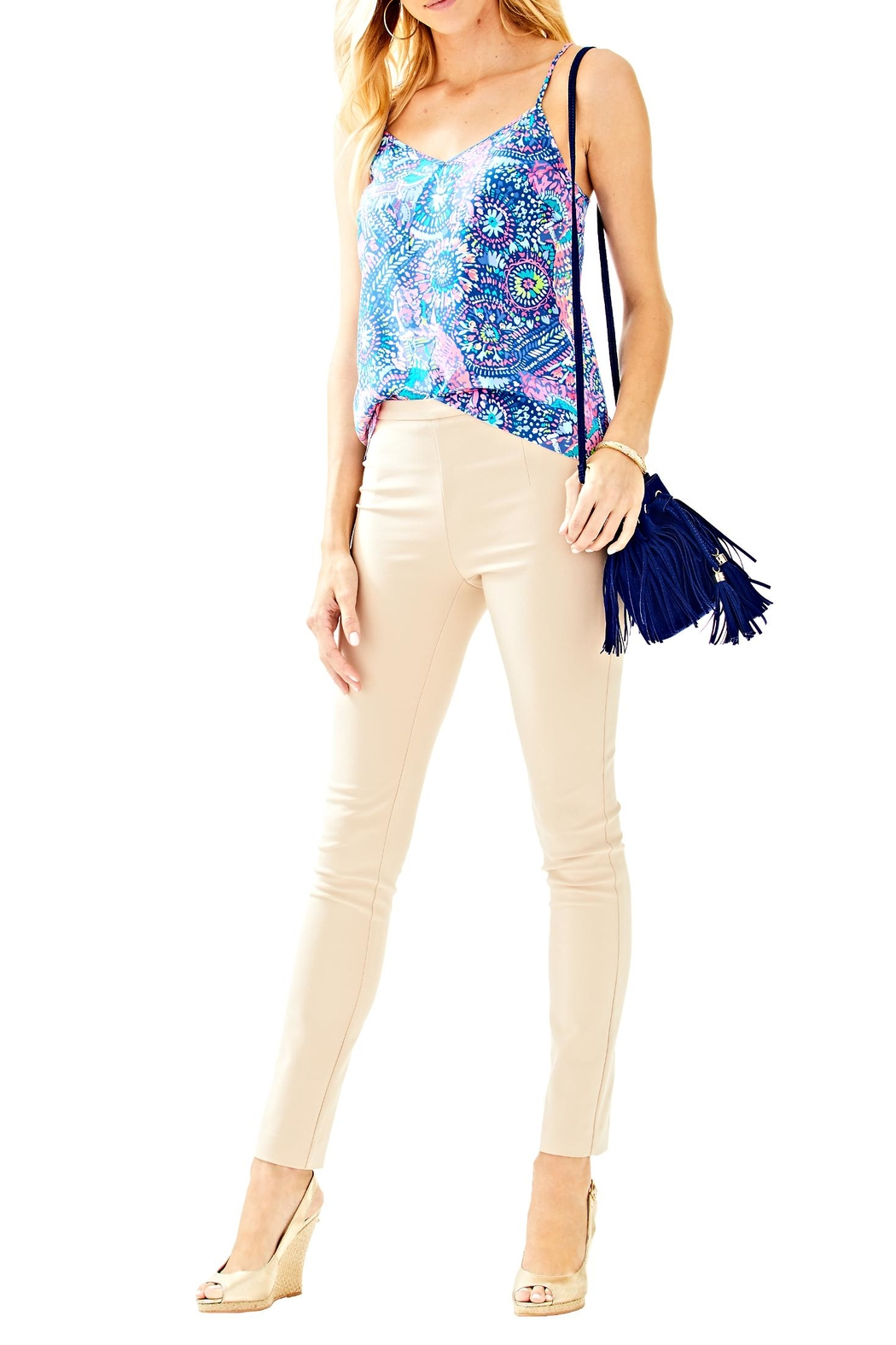 Lilly Pulitzer Alessia Stretch Pant - Back Cropped Image