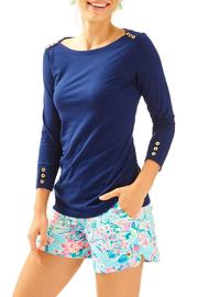 Lilly Pulitzer Alinda Navy Top - Product Mini Image