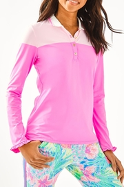 Lilly Pulitzer Alister Polo - Front cropped