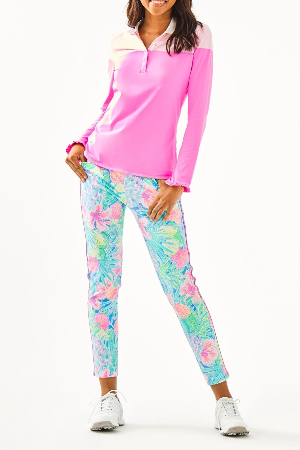 Lilly Pulitzer Alister Polo - Side Cropped Image