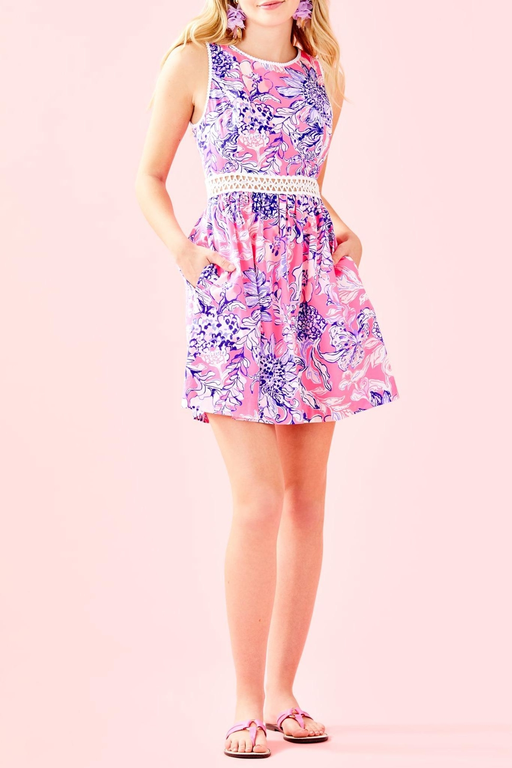 Lilly Pulitzer Alivia Dress - Back Cropped Image