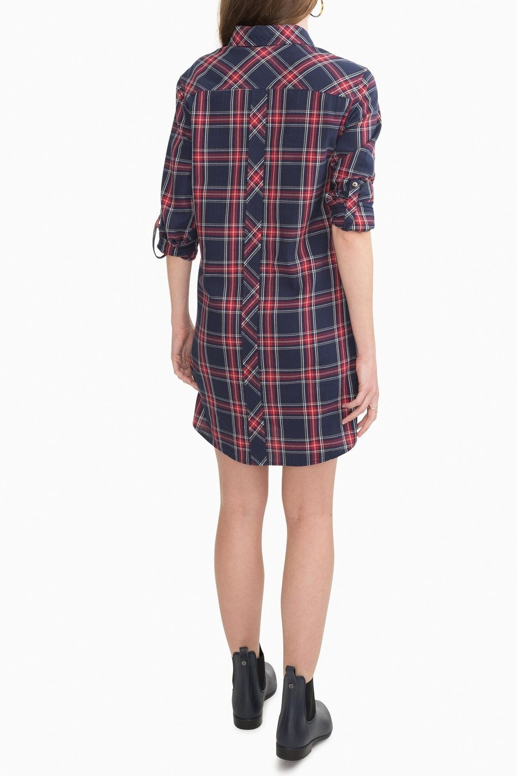 Southern Tide Alyssa Plaid Shirtdress - Front Full Image