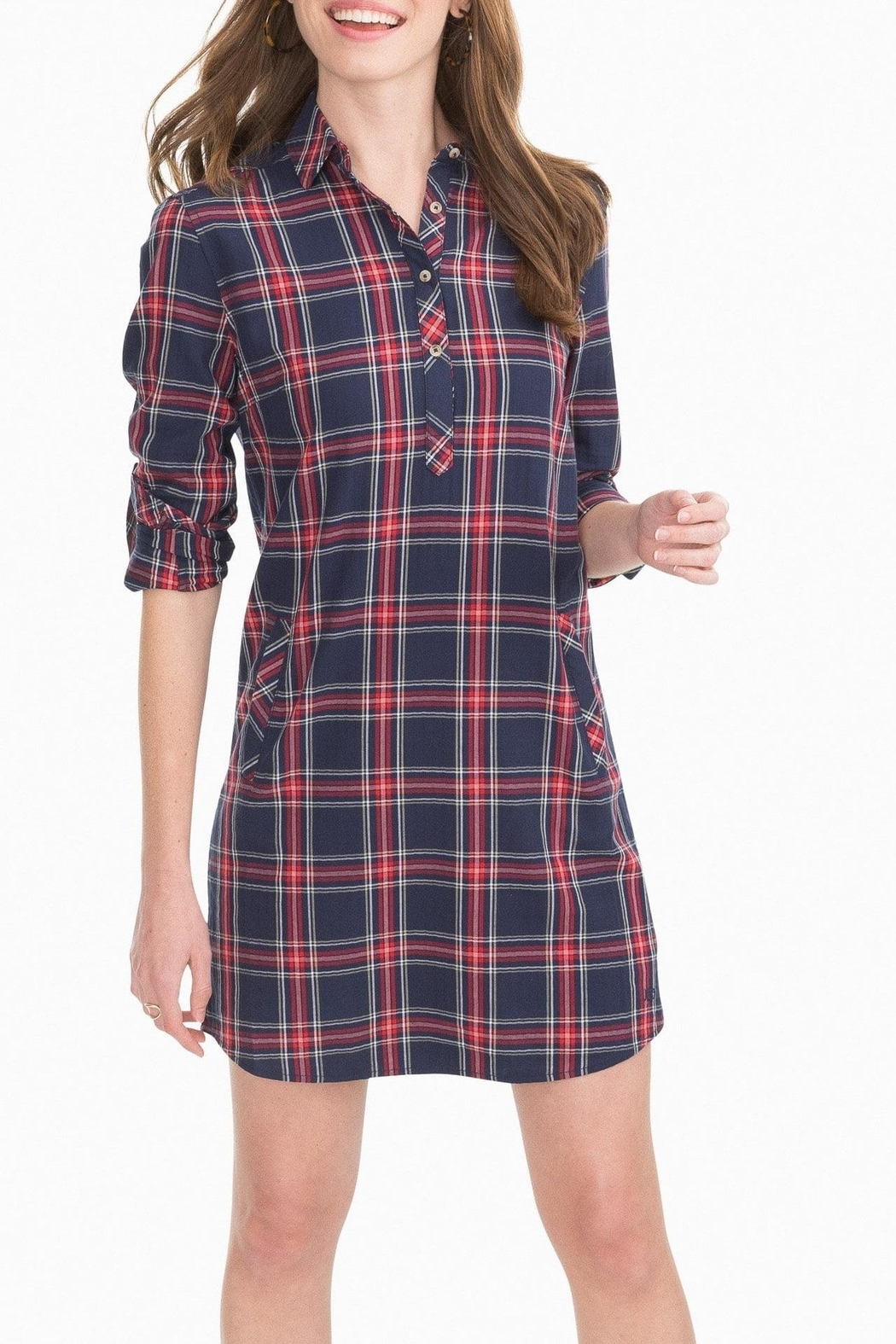 Lilly Pulitzer Alyssa Plaid Shirtdress - Front Cropped Image
