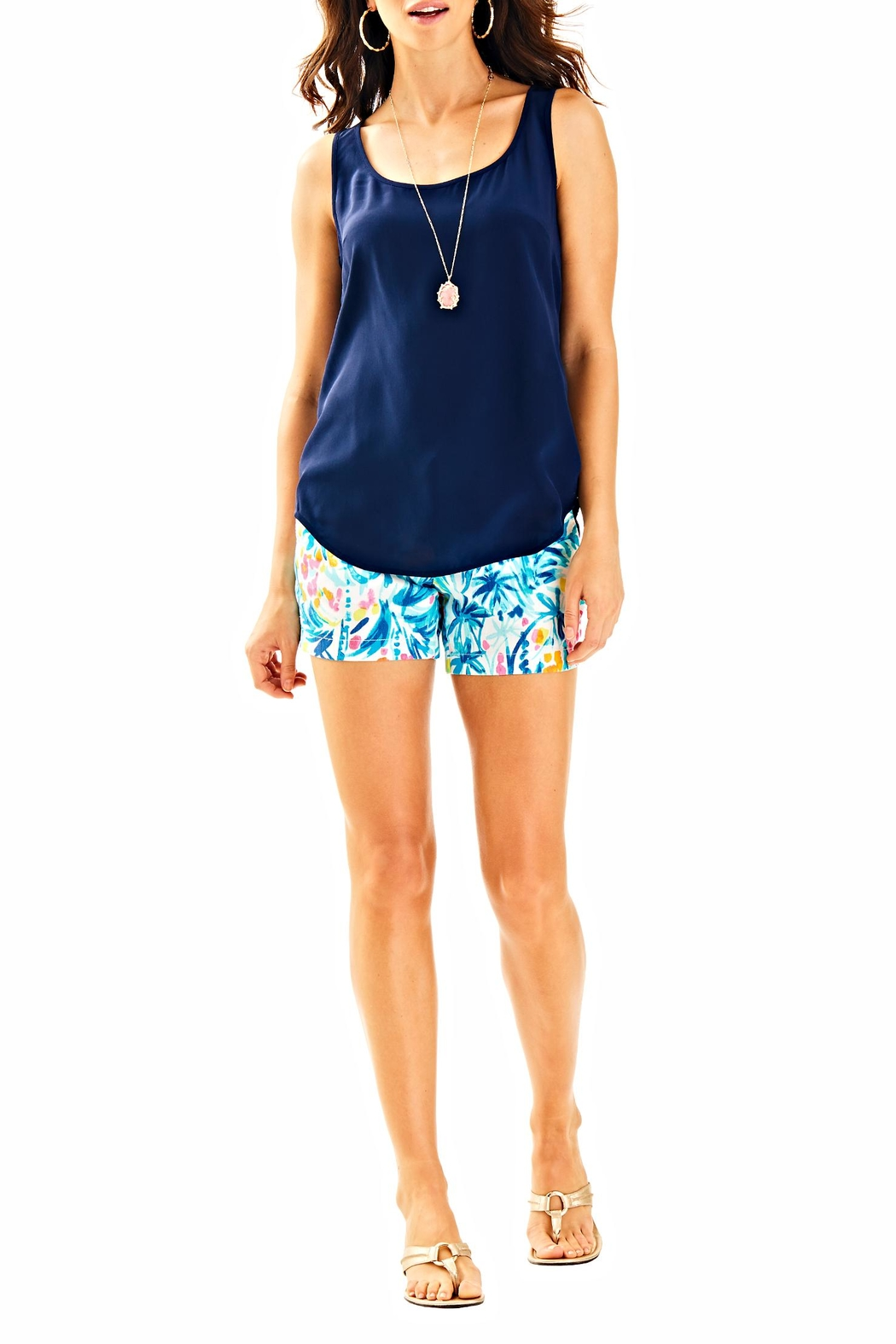 Lilly Pulitzer Alyssa Silk Top - Side Cropped Image