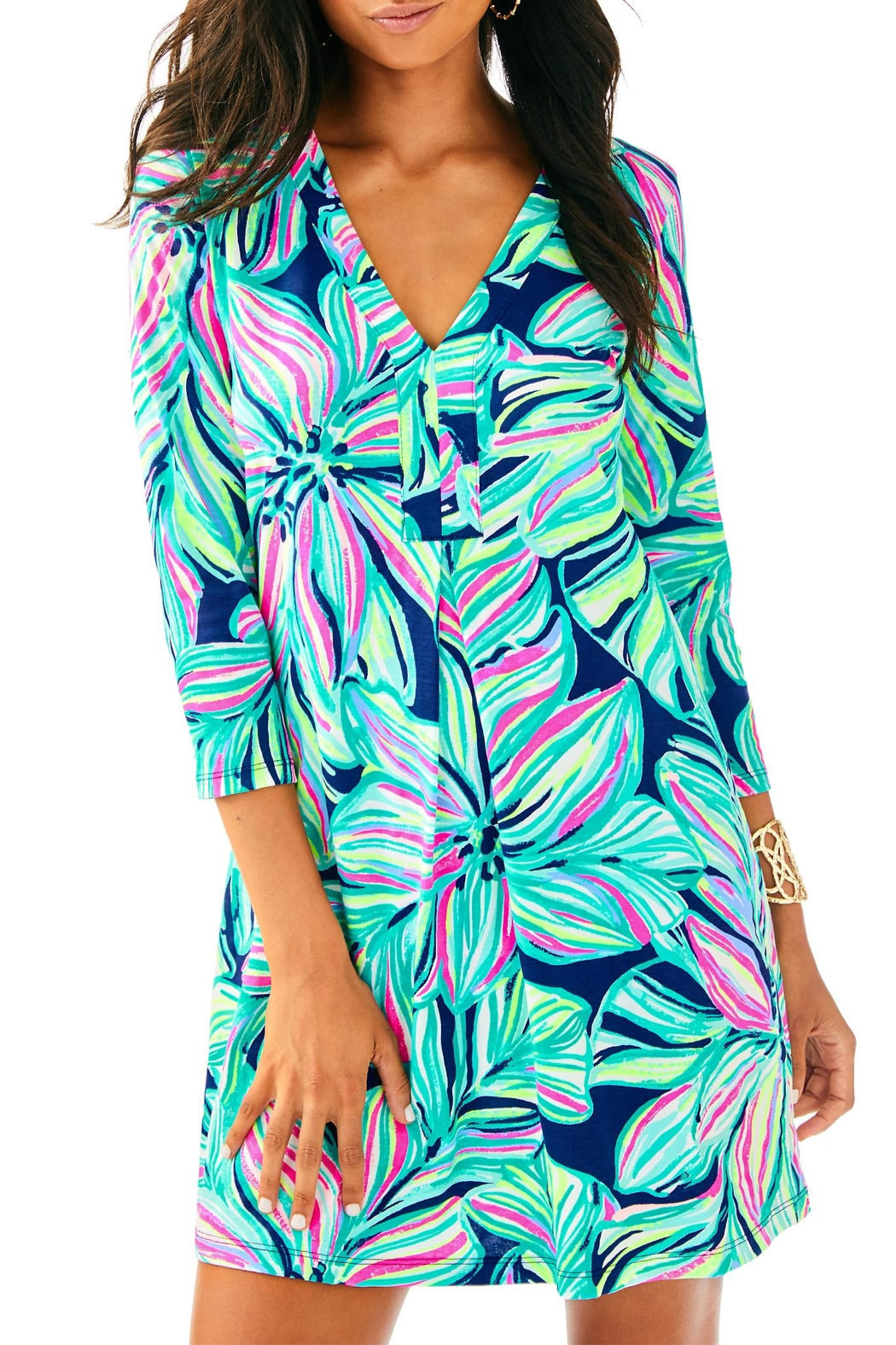 Lilly Pulitzer Amina Dress - Front Cropped Image