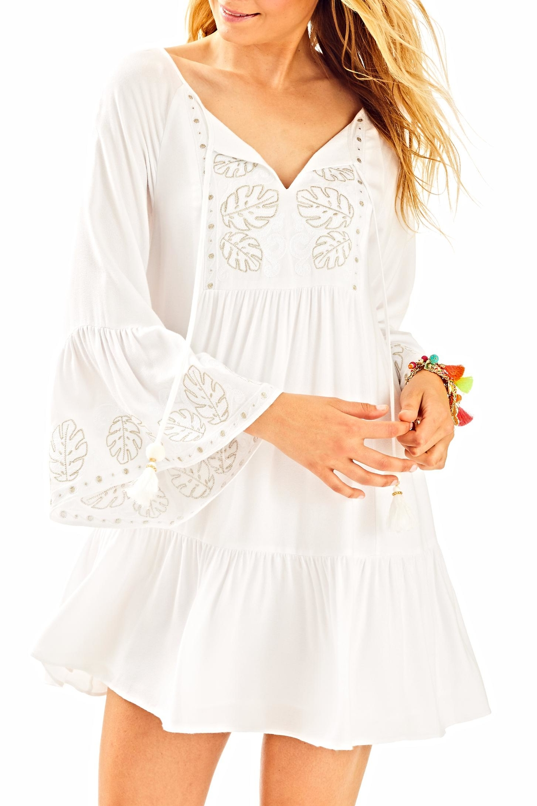 Lilly Pulitzer Amisa Tunic Dress - Front Cropped Image