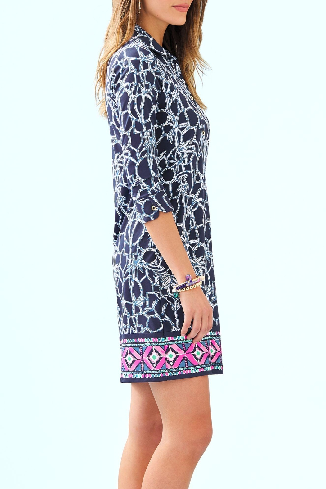 Lilly Pulitzer Ansley Polo Dress - Side Cropped Image