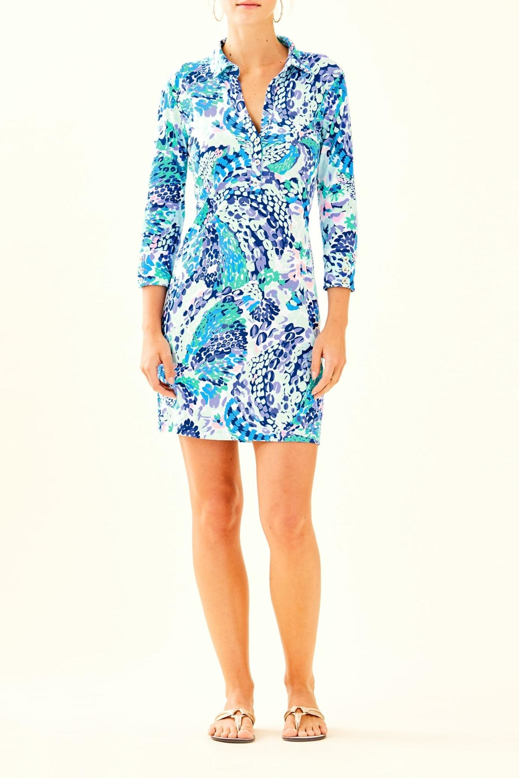 Lilly Pulitzer Ansley Polo Dress - Back Cropped Image