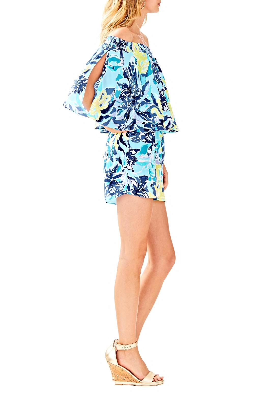 Lilly Pulitzer Arbelle Romper - Side Cropped Image