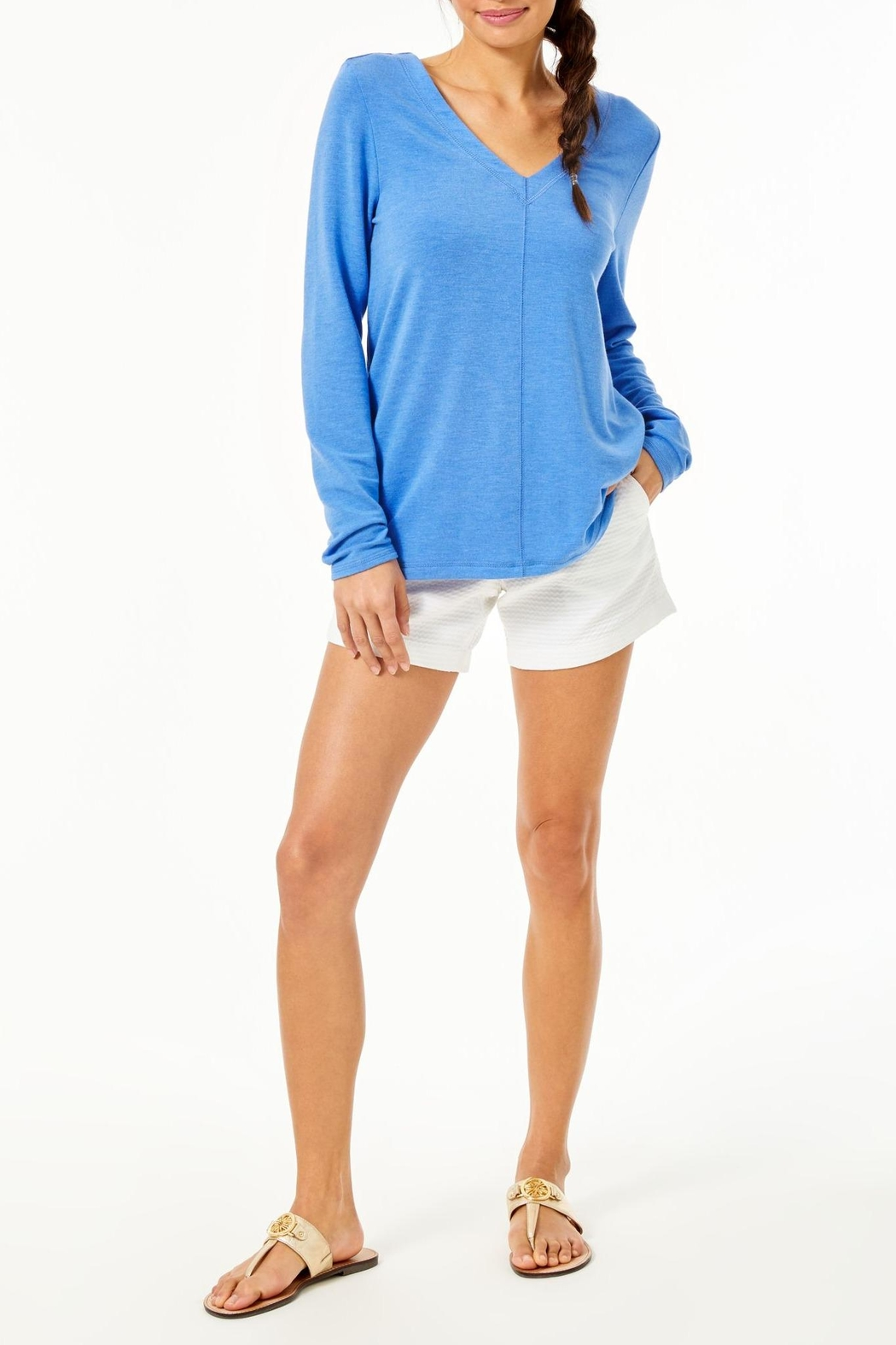 Lilly Pulitzer Luxletic Areli Pullover - Back Cropped Image