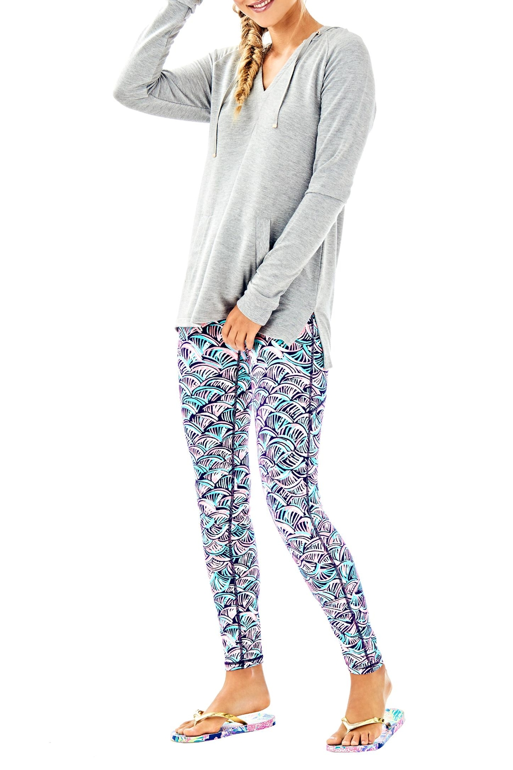 Lilly Pulitzer Arin Lounge Popover - Side Cropped Image