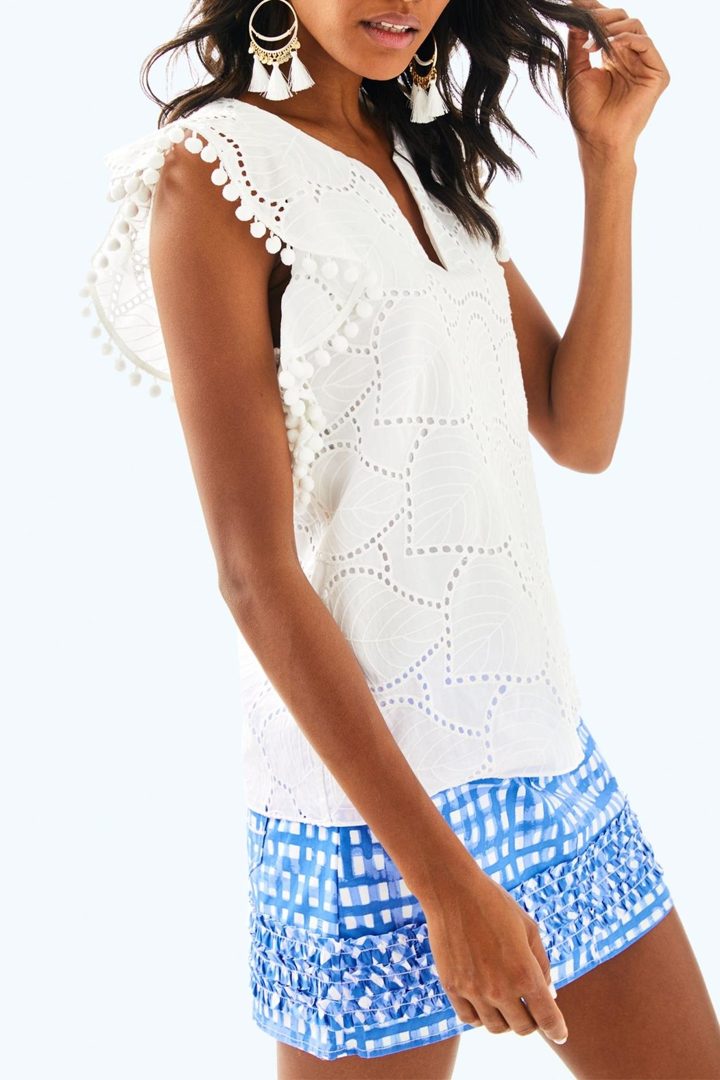 Lilly Pulitzer Astara Top - Front Cropped Image