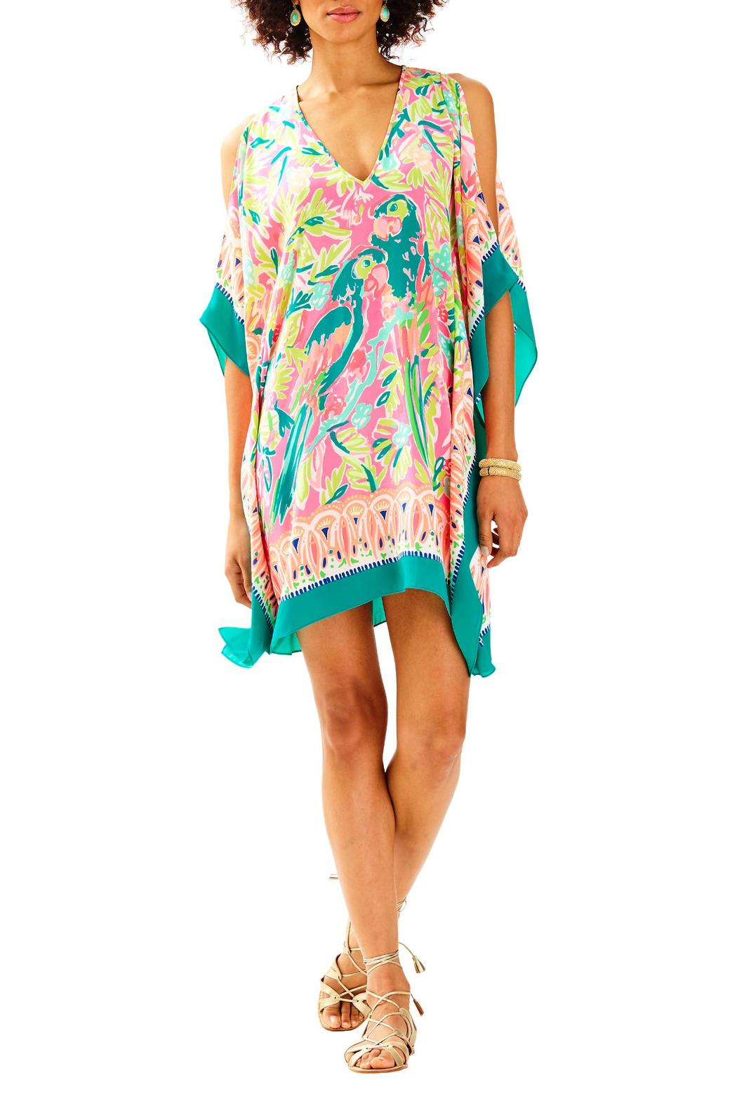 Lilly Pulitzer Atlin Silk Caftan - Back Cropped Image