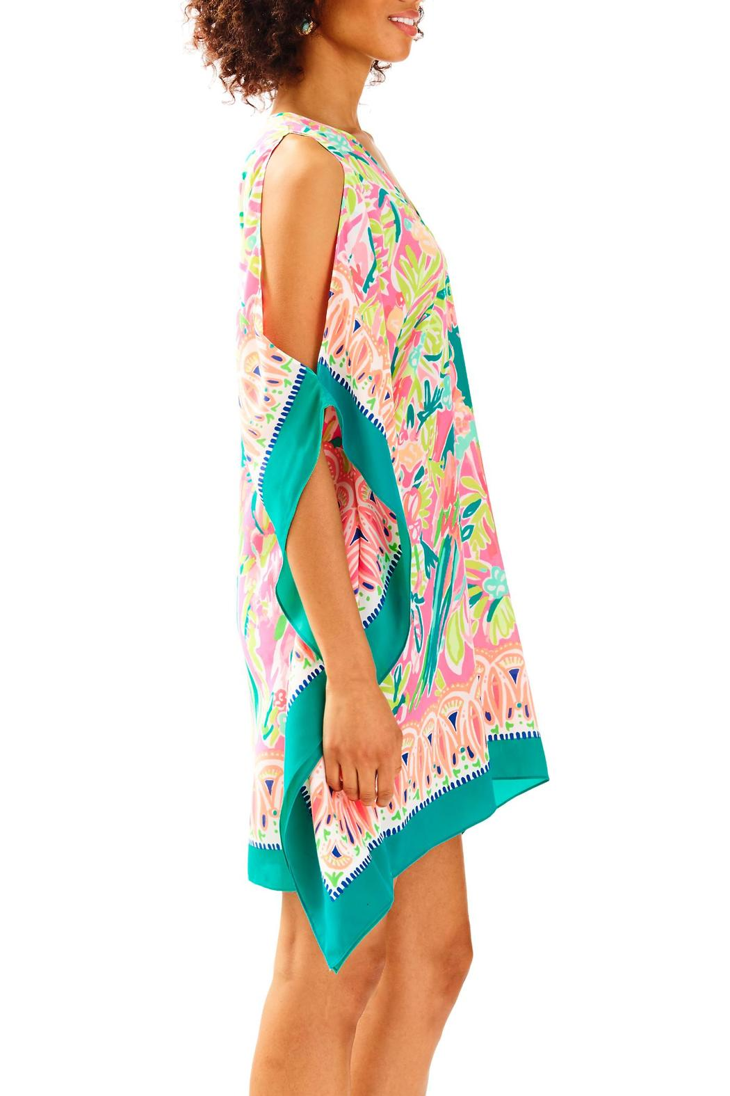 Lilly Pulitzer Atlin Silk Caftan - Side Cropped Image