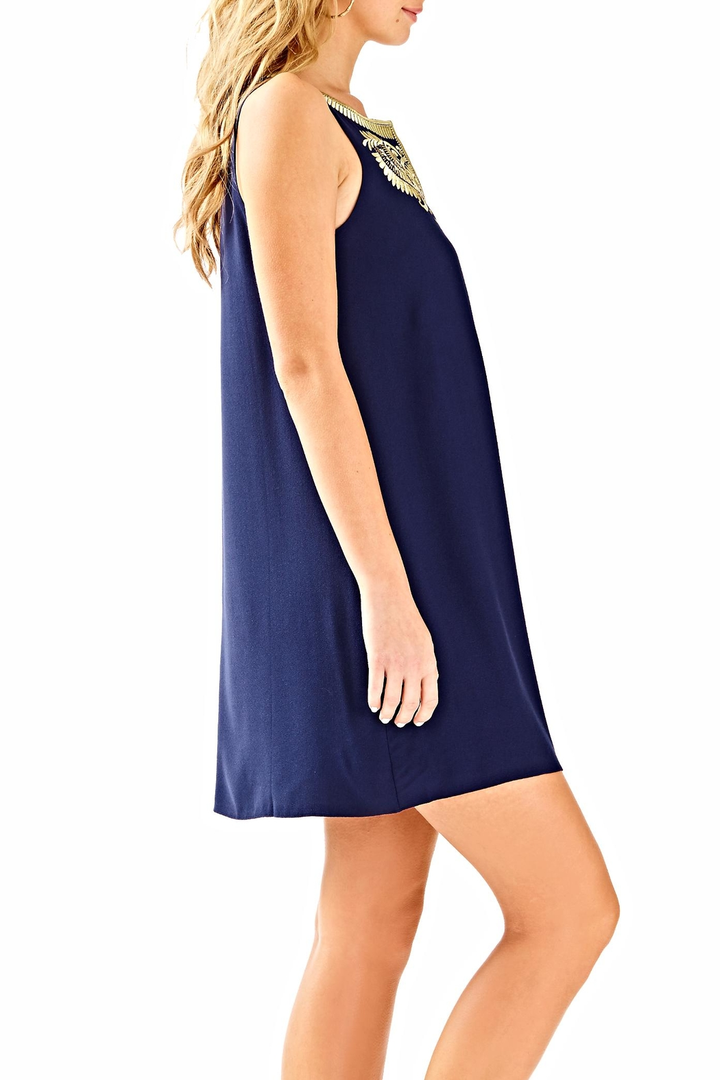 Lilly Pulitzer Aubra Shift Dress - Side Cropped Image