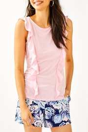 Lilly Pulitzer Austen Ruffle Top - Product Mini Image