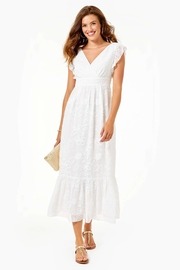 Lilly Pulitzer Autumn Ruffle Midi-Dress - Product Mini Image