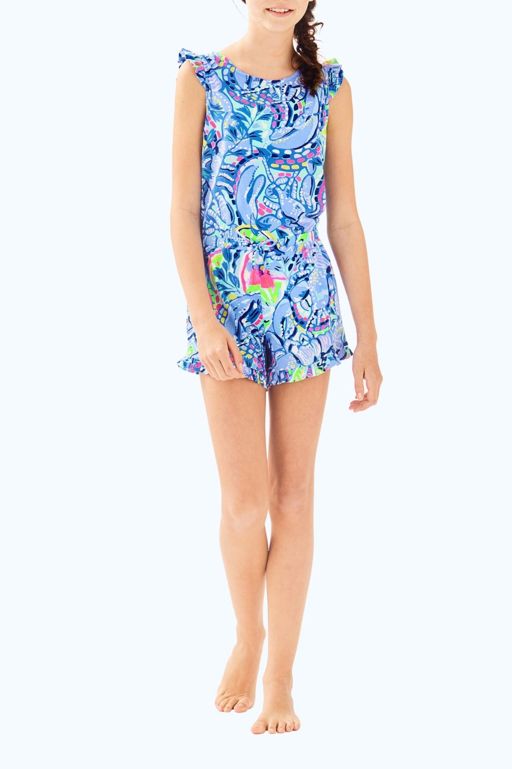 Lilly Pulitzer Azel Romper - Side Cropped Image