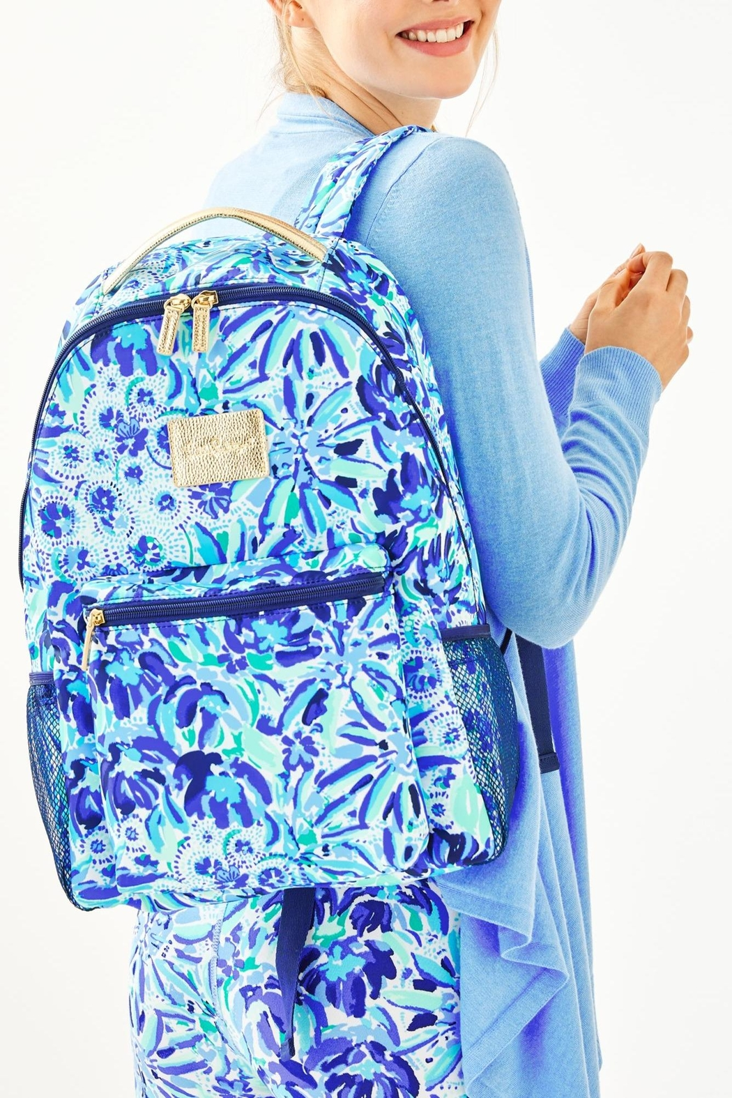 Lilly Pulitzer Bahia Backpack - Back Cropped Image