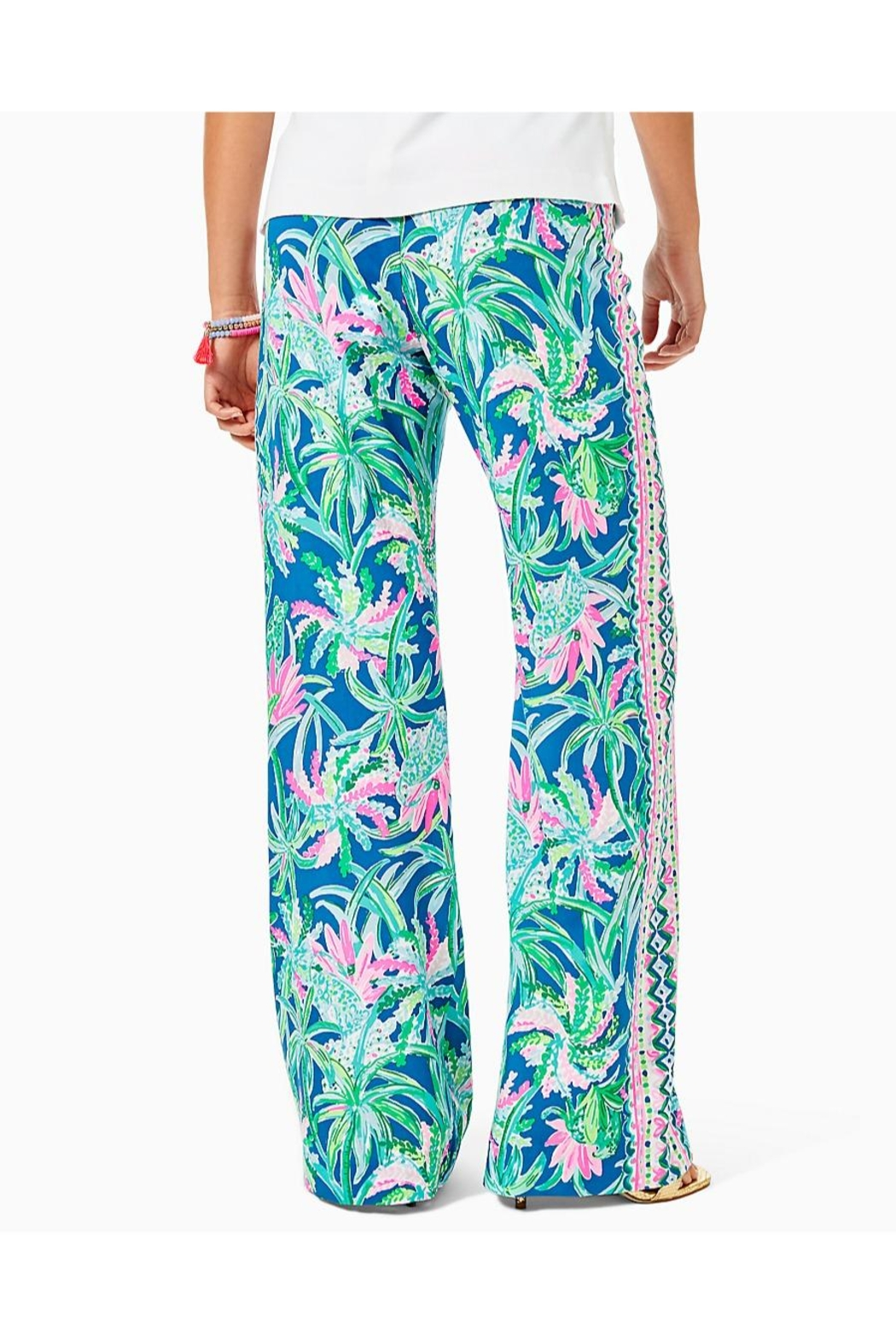 Lilly Pulitzer Bal Habour Palazzo-Pant - Front Full Image