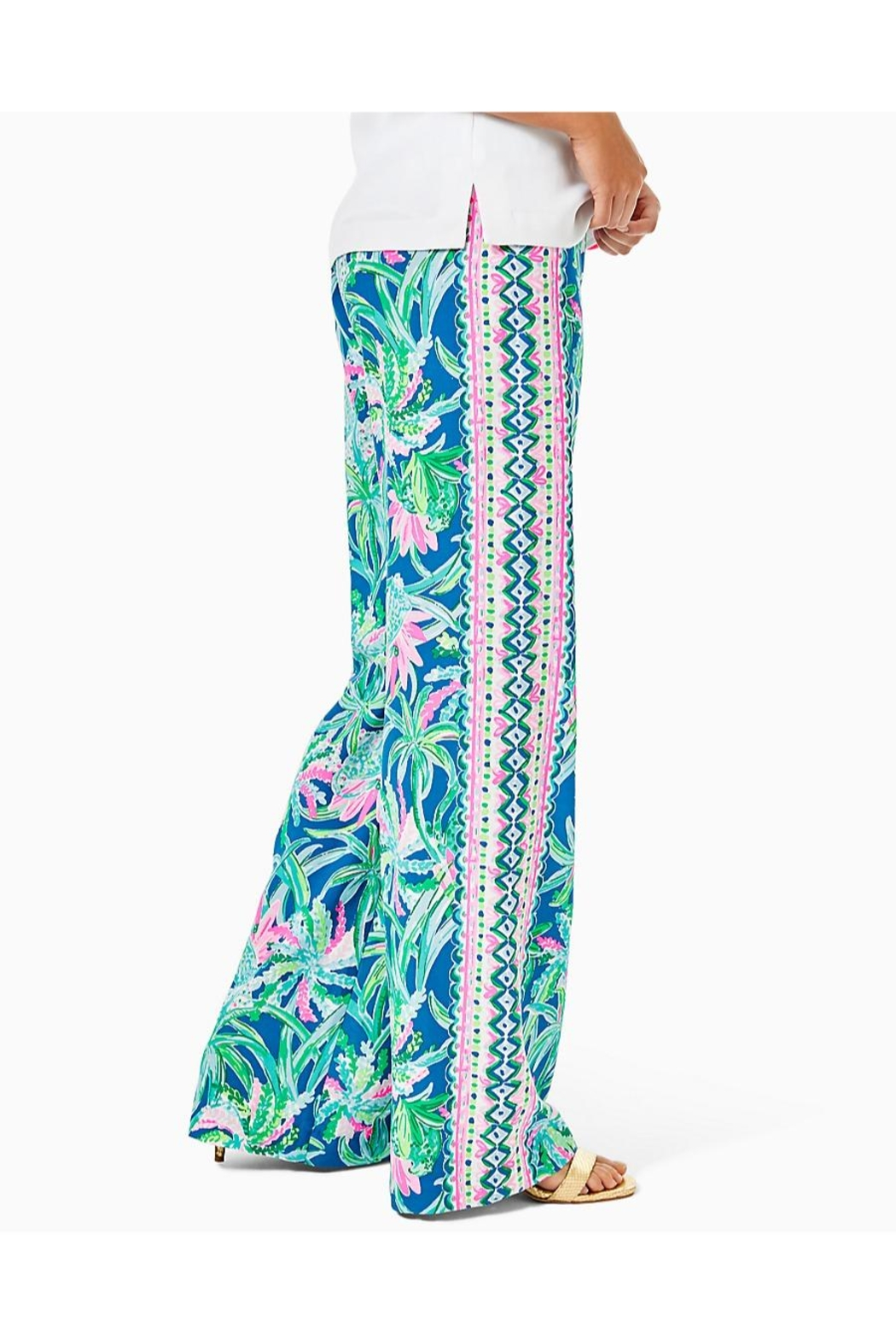 Lilly Pulitzer Bal Habour Palazzo-Pant - Side Cropped Image