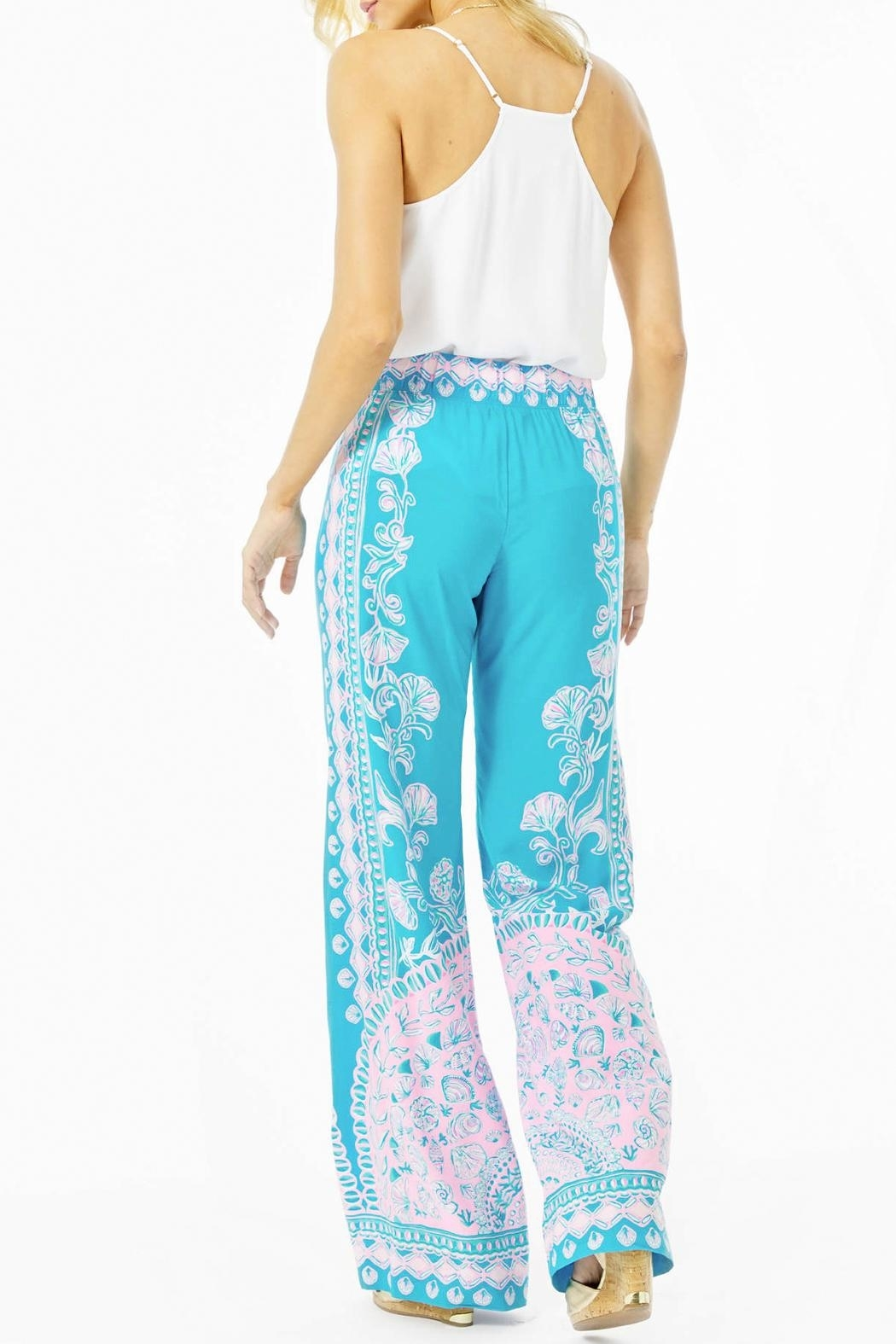 Lilly Pulitzer Bal-Harbour Mid-Rise Palazzo-Pant - Side Cropped Image