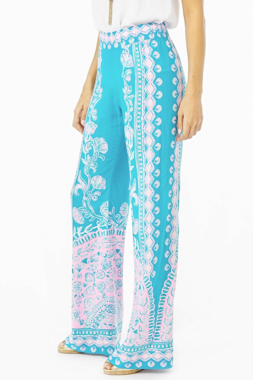 Lilly Pulitzer Bal-Harbour Mid-Rise Palazzo-Pant - Front Full Image