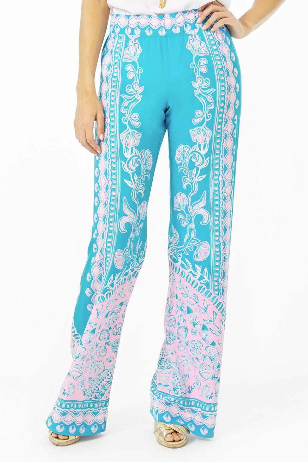 Lilly Pulitzer Bal-Harbour Mid-Rise Palazzo-Pant - Front Cropped Image