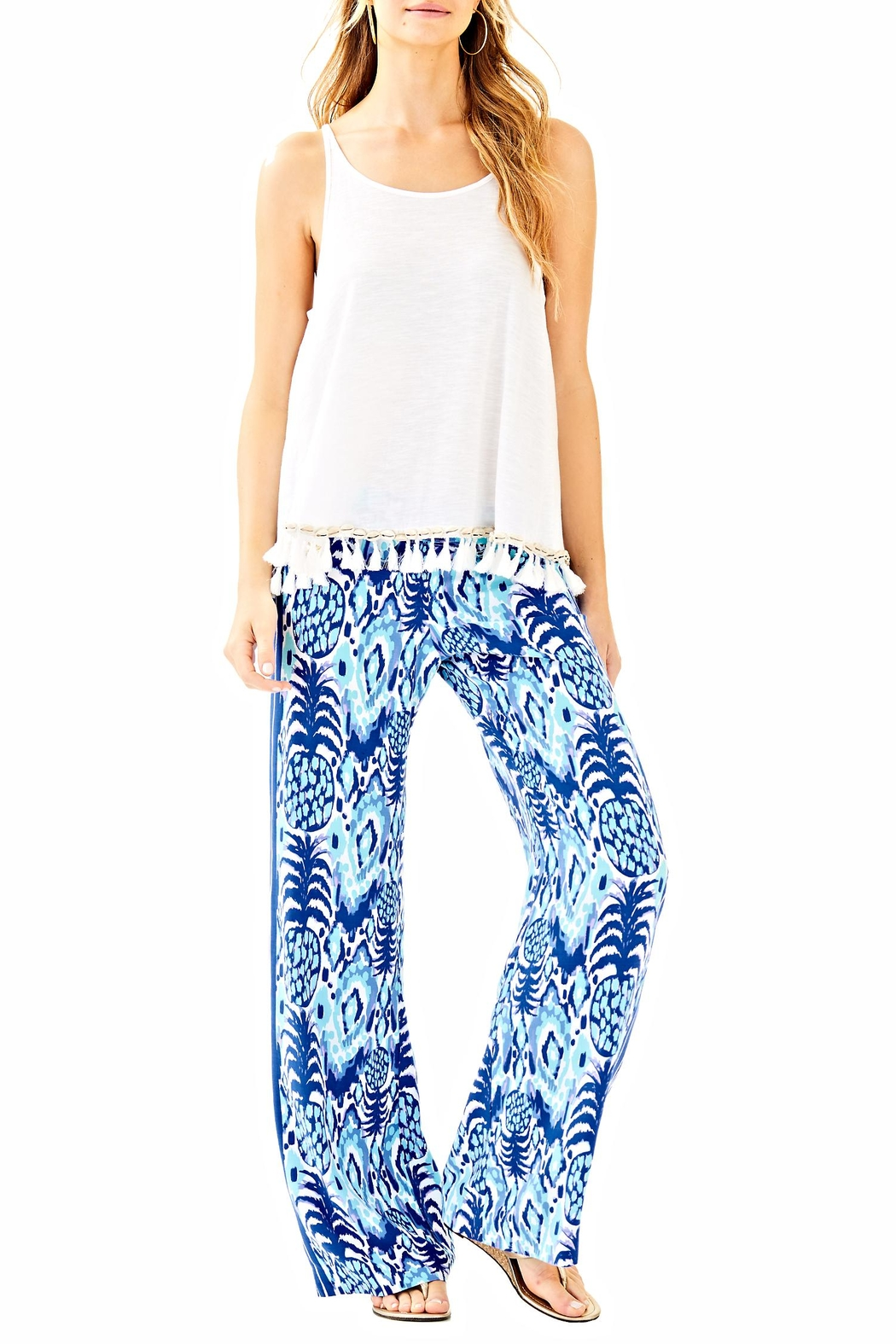 Lilly Pulitzer Balharbour Palazzo Pant - Front Cropped Image