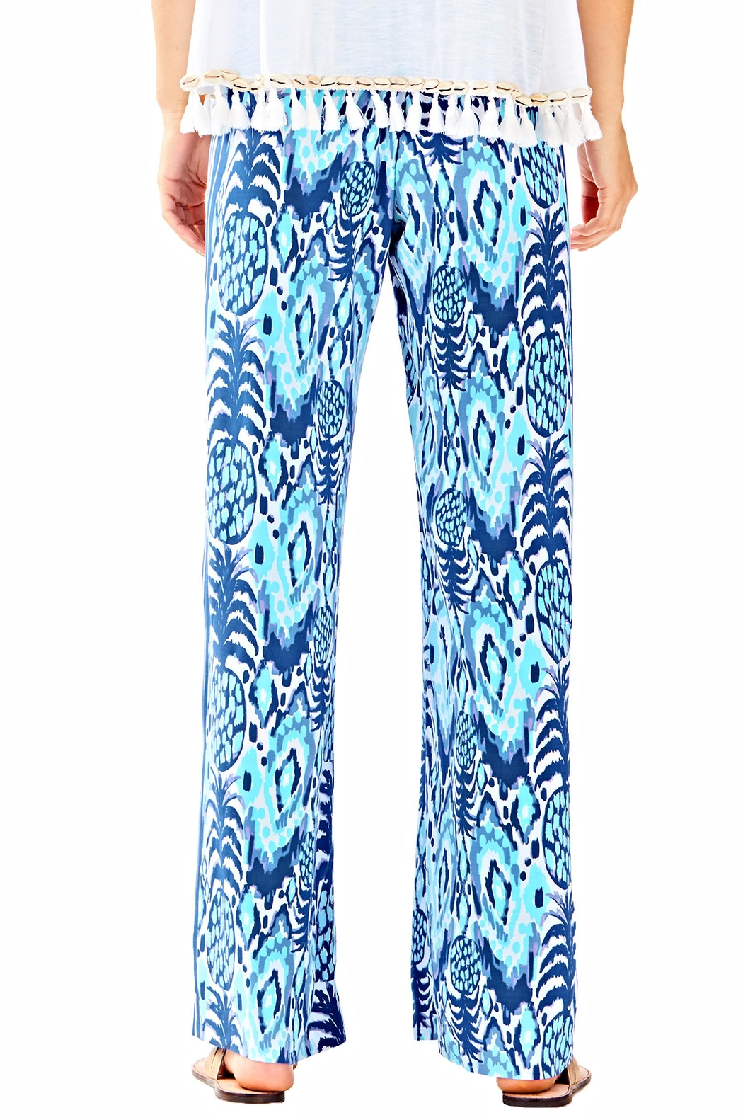 Lilly Pulitzer Balharbour Palazzo Pant - Side Cropped Image
