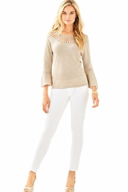 Lilly Pulitzer Barrington Gold Sweater - Front cropped