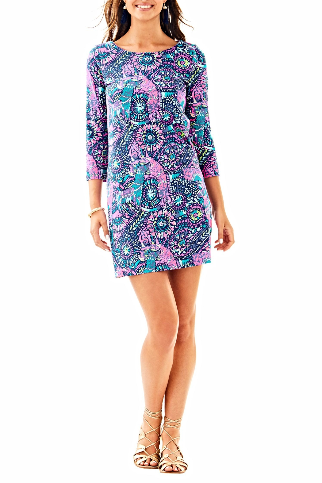 Lilly Pulitzer Bay Dress - Back Cropped Image