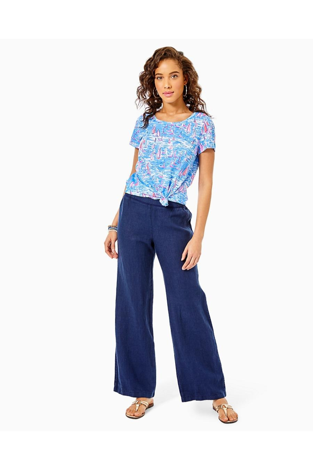Lilly Pulitzer Beach Palazzo Pant - Back Cropped Image