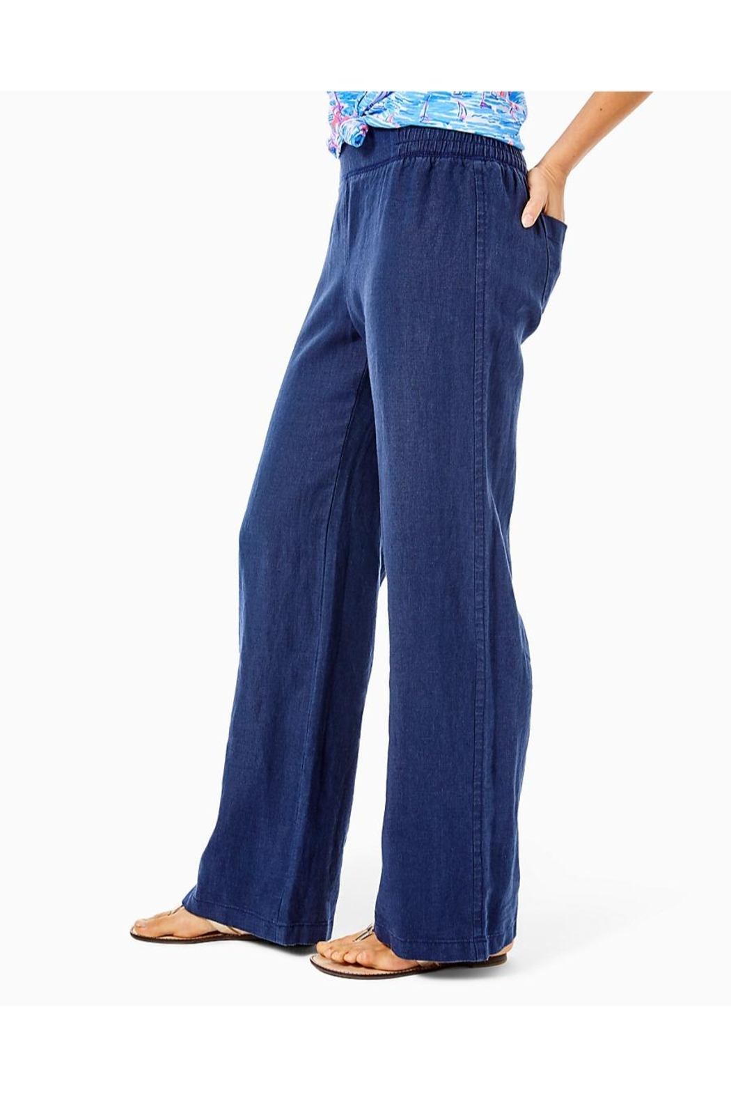 Lilly Pulitzer Beach Palazzo Pant - Side Cropped Image