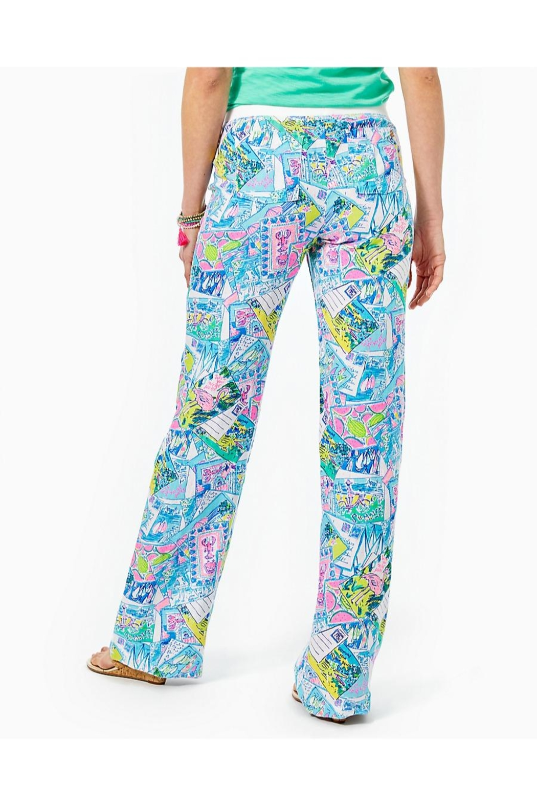 Lilly Pulitzer Beach Palazzo Pant - Front Full Image