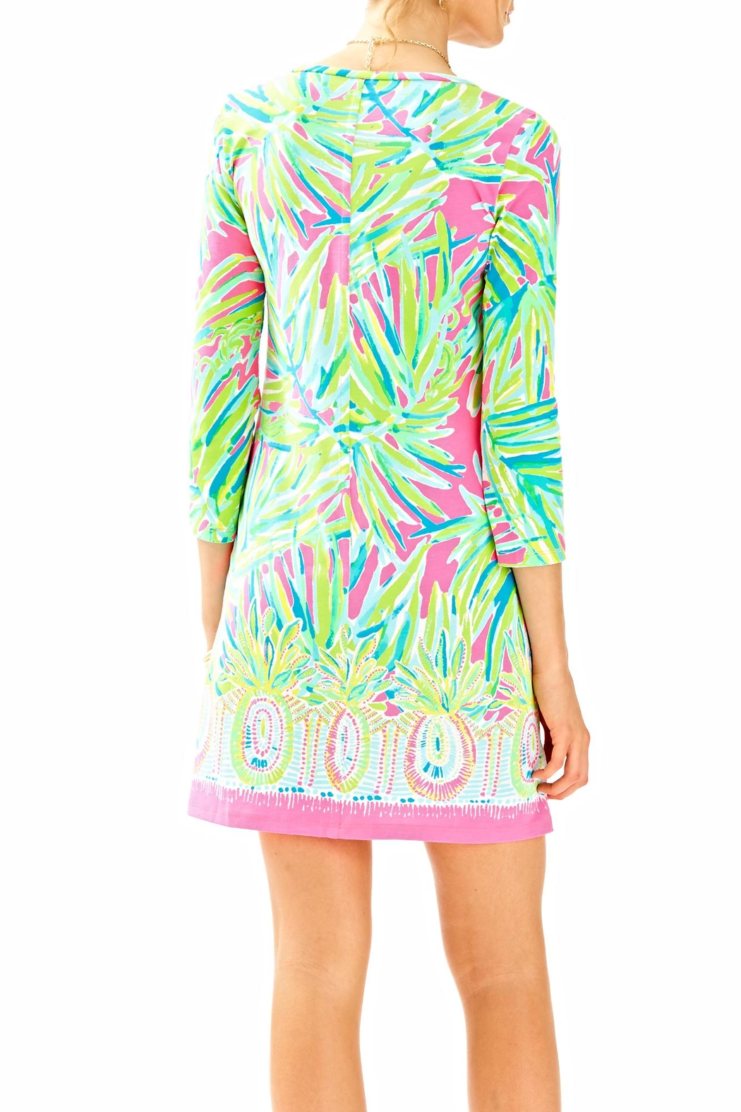 Lilly Pulitzer 3/4 Sleeve Dress - Front Full Image