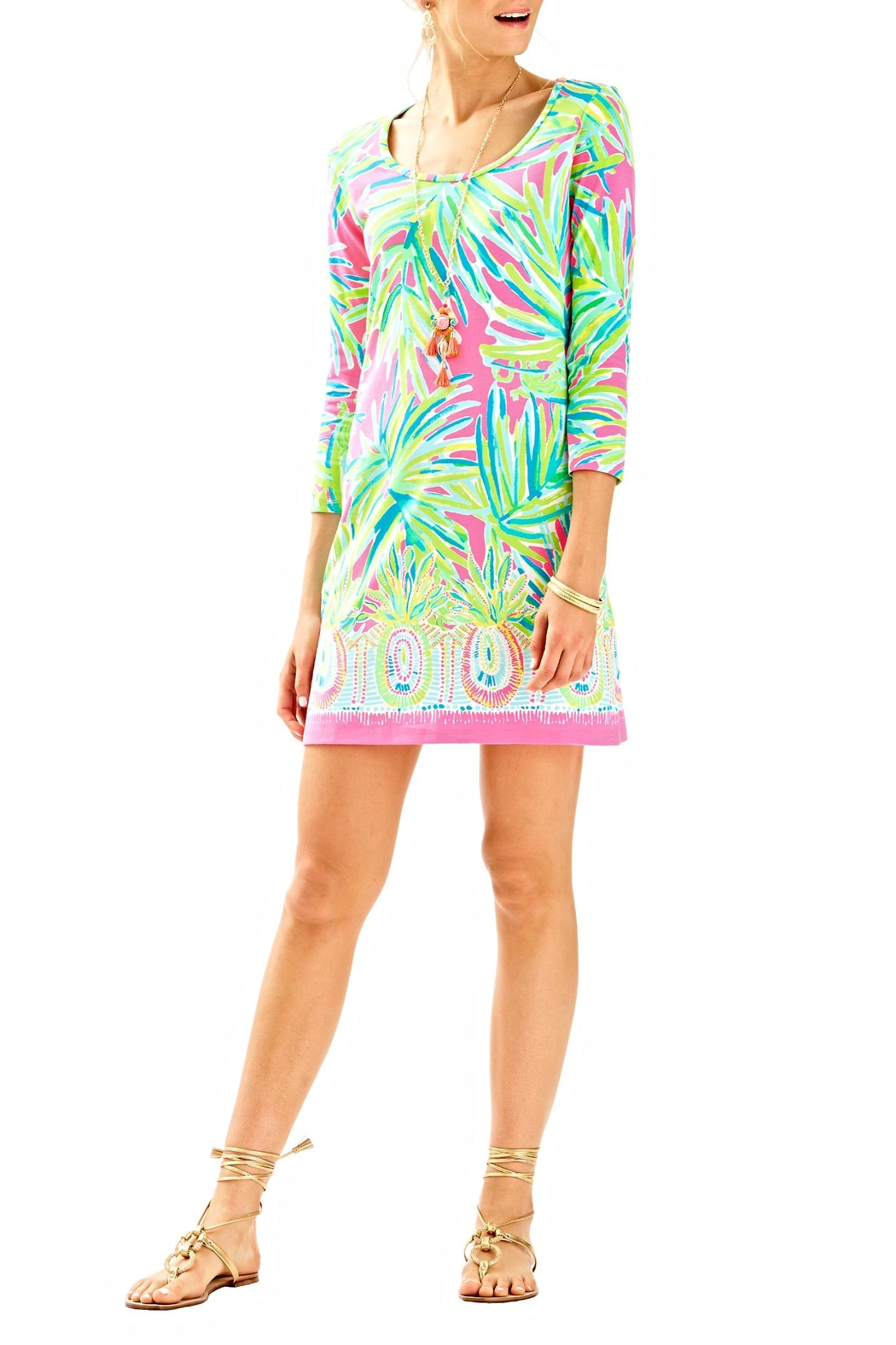 Lilly Pulitzer 3/4 Sleeve Dress - Back Cropped Image