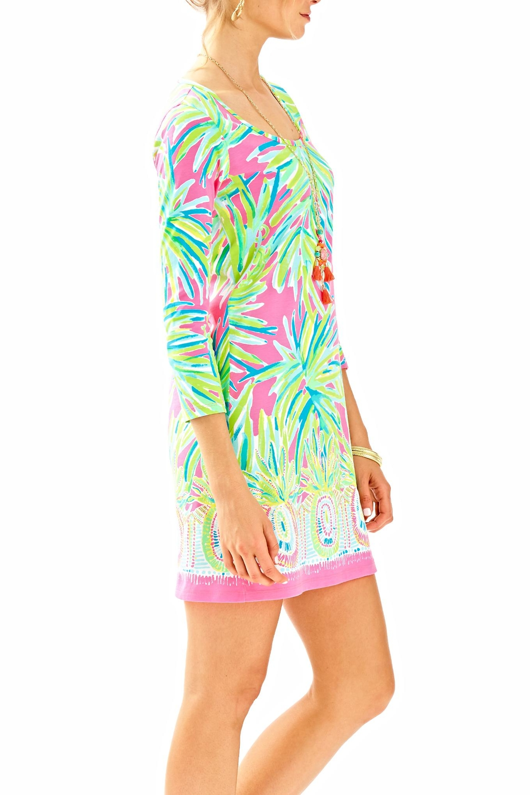 Lilly Pulitzer 3/4 Sleeve Dress - Side Cropped Image