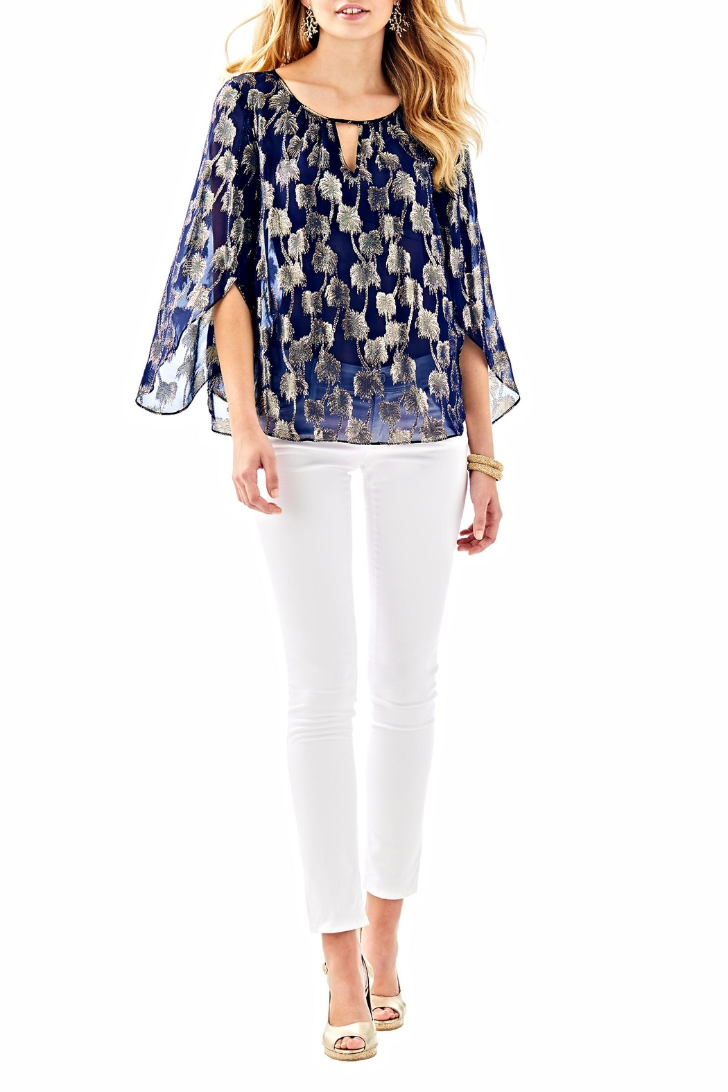 Lilly Pulitzer Beccer Clip Top - Side Cropped Image