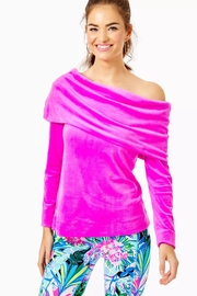 Lilly Pulitzer Belinda Velour Sweatshirt - Product Mini Image
