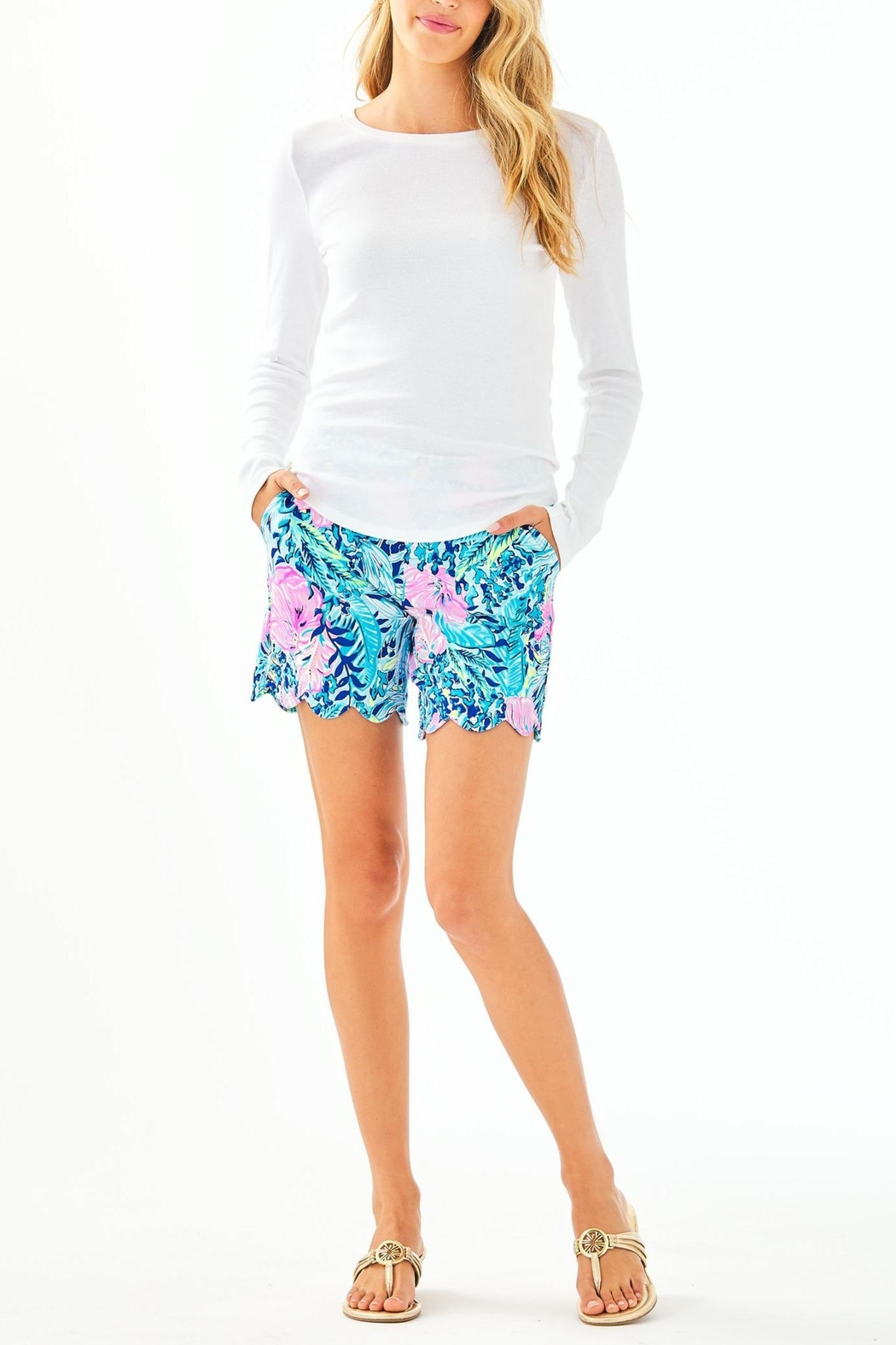 Lilly Pulitzer Bladwin Top - Side Cropped Image