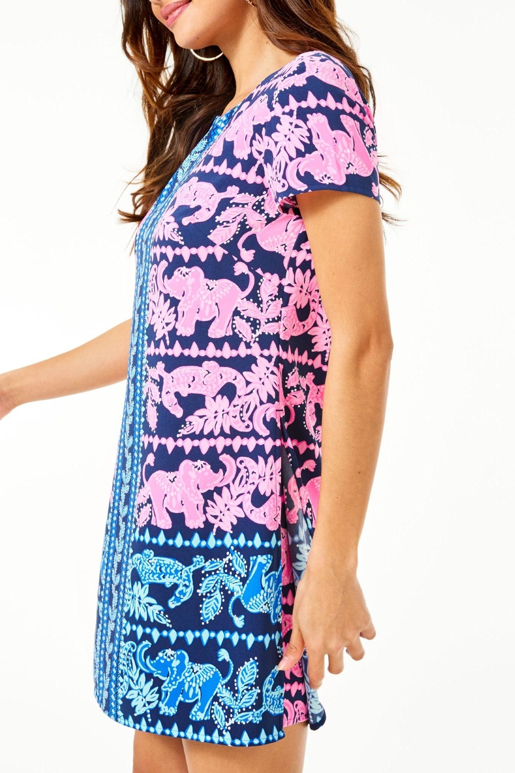 Lilly Pulitzer Blanca Stretch Romper - Side Cropped Image
