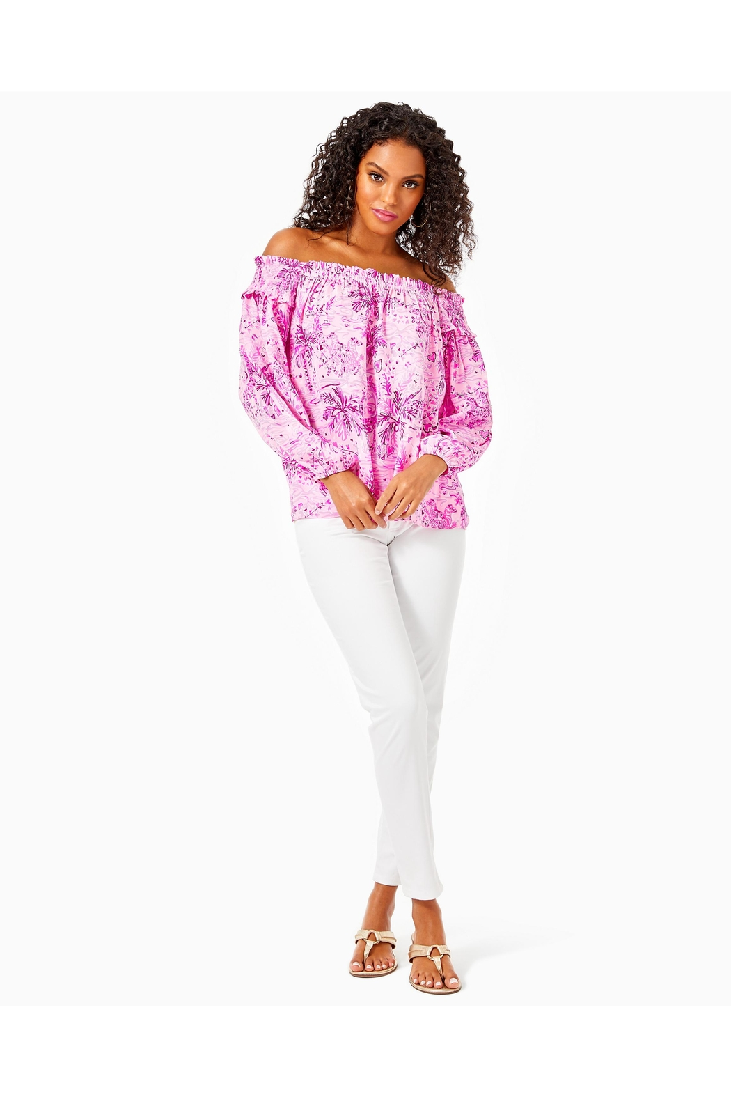 Lilly Pulitzer Blanche Off-The-Shoulder Top - Side Cropped Image