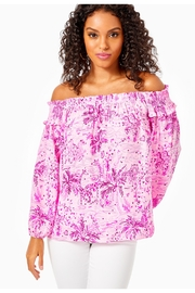 Lilly Pulitzer Blanche Off-The-Shoulder Top - Front cropped