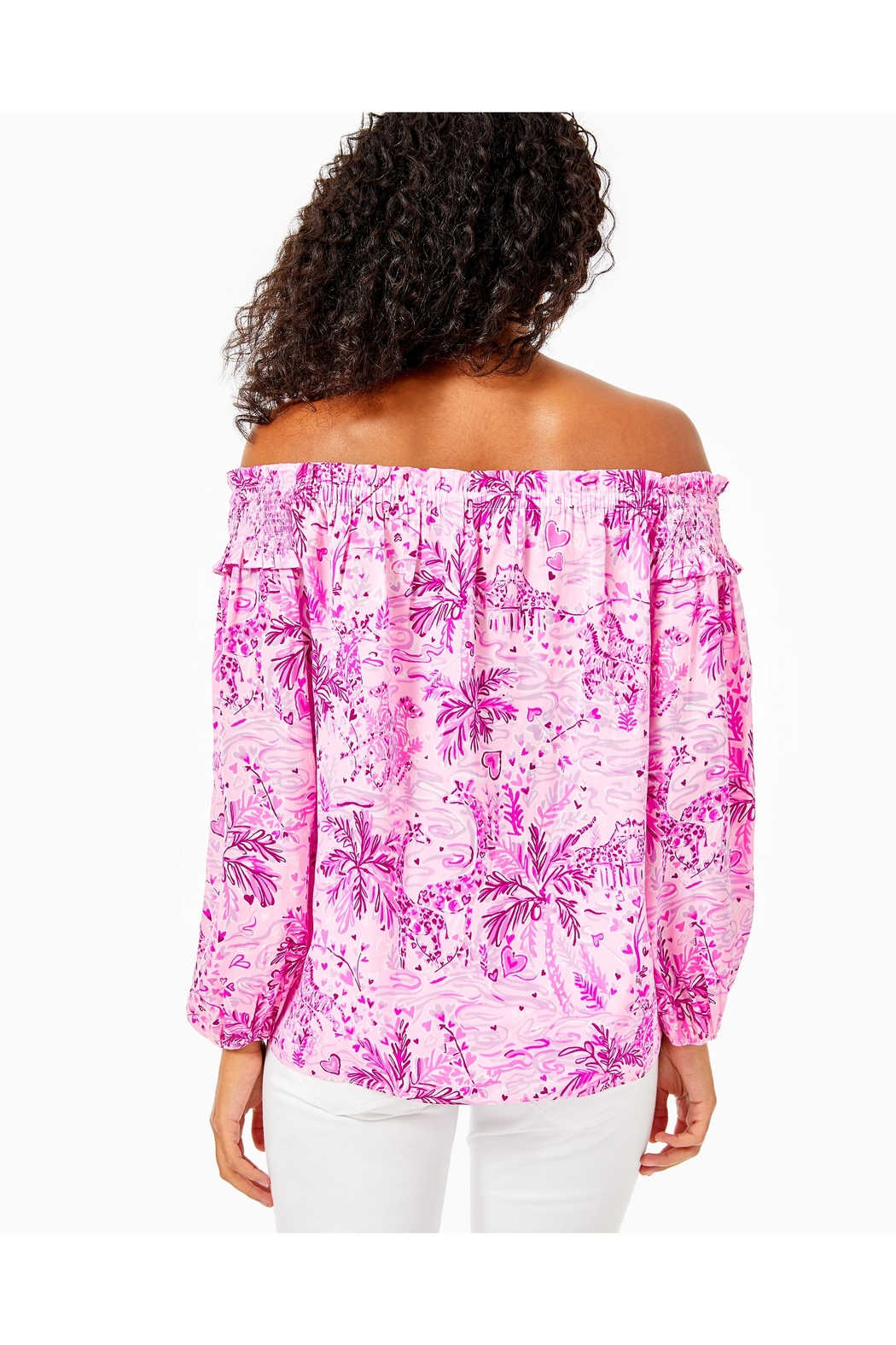 Lilly Pulitzer Blanche Off-The-Shoulder Top - Front Full Image