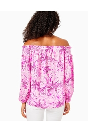 Lilly Pulitzer Blanche Off-The-Shoulder Top - Front full body