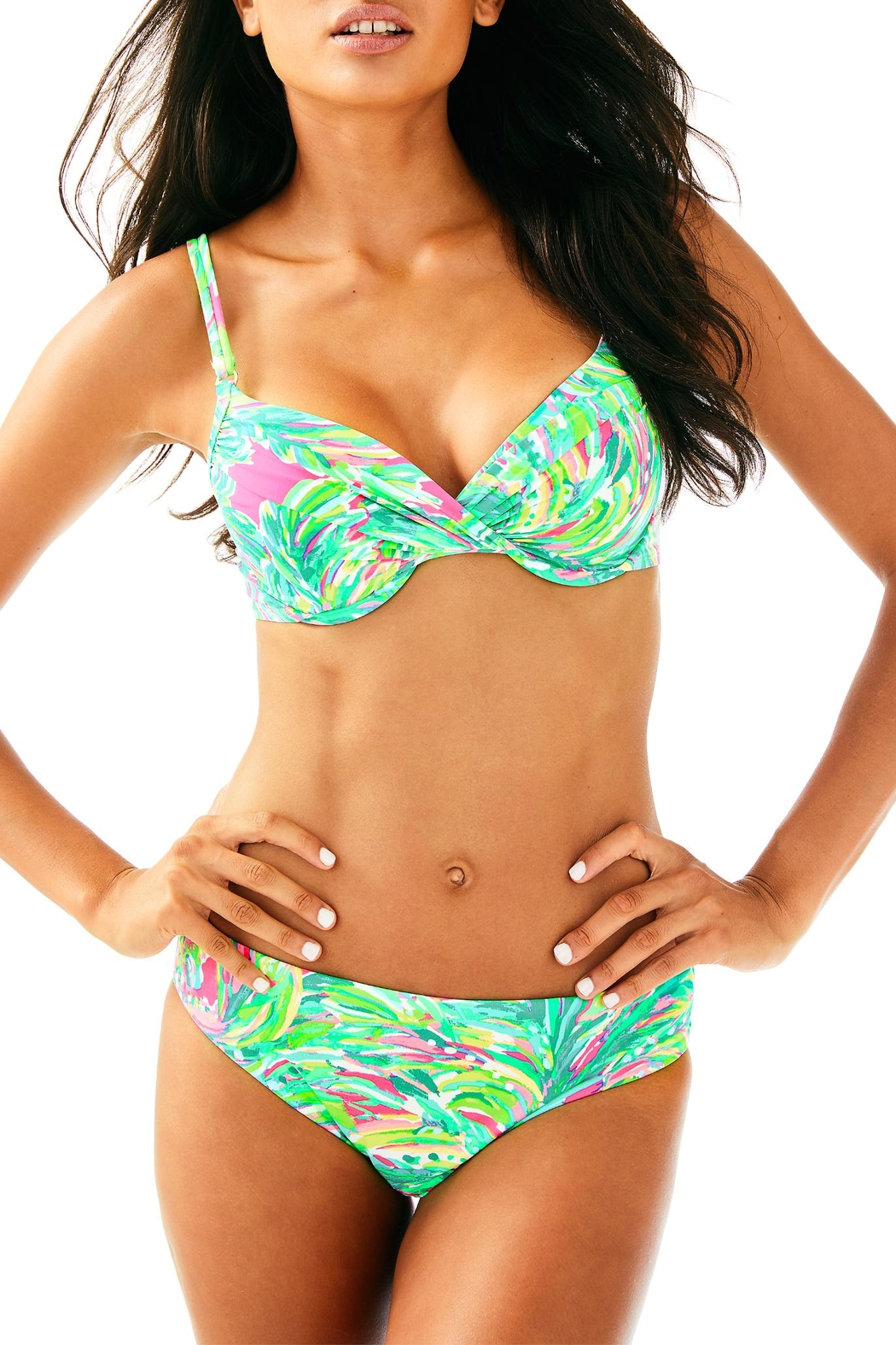Lilly Pulitzer Blossom Bikini Bottom - Front Cropped Image