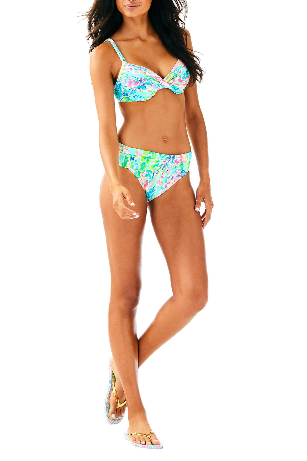 Lilly Pulitzer Blossom Bikini Top - Side Cropped Image